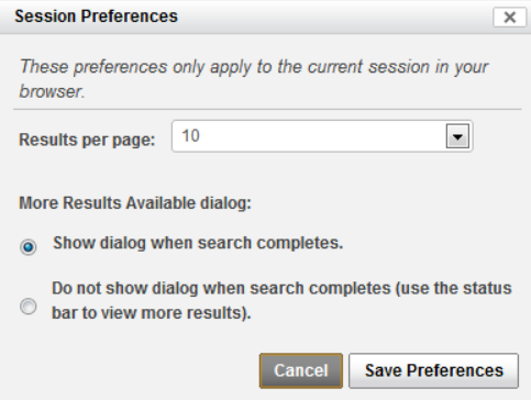 Session Preferences